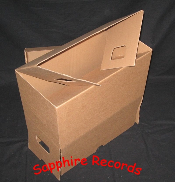 single pappbox mit deckel sapphire records. Black Bedroom Furniture Sets. Home Design Ideas